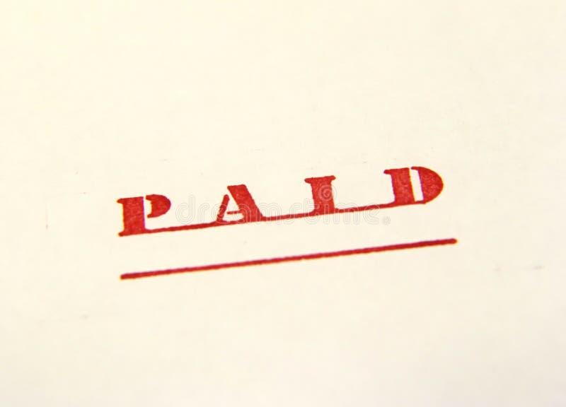 被支付的2印花税 免版税库存图片