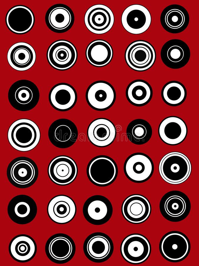 Download 35 Circle Graphic Elements Royalty Free Stock Photography - Image: 3384367