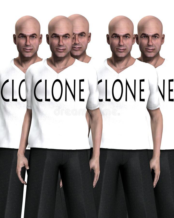 35 clonados ilustração royalty free