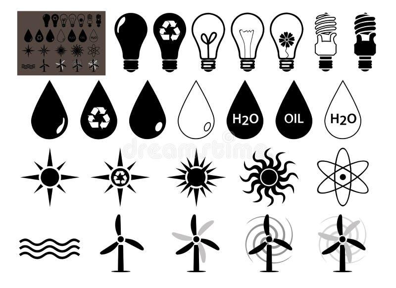 35 energia wypełniająca wypełniać royalty ilustracja