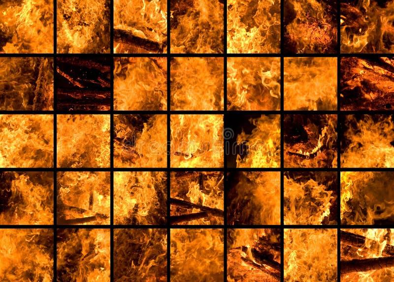 35 Fragments Of A Huge Bonfire Stock Images