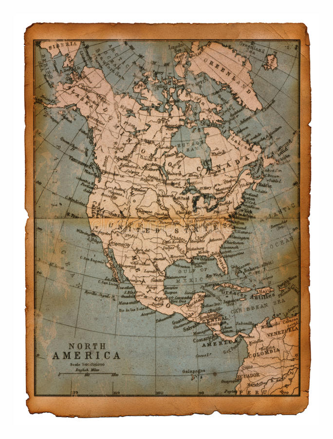 35 kaart van Noord-Amerika royalty-vrije stock afbeelding