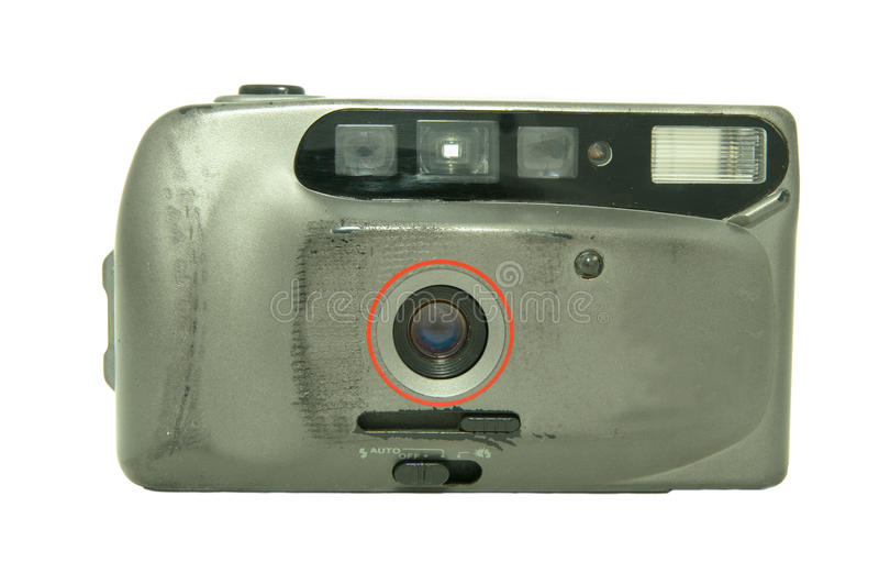 35 kamery ekranowy mm rocznik zdjęcia stock