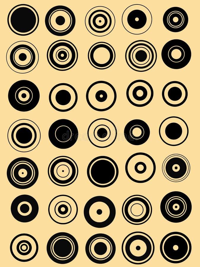 35 Kreis-Grafik-Elemente stock abbildung