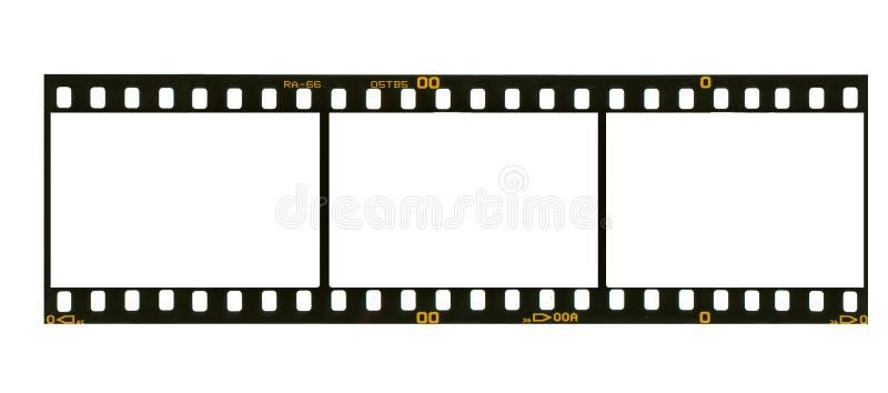 35 milímetros de filmstrip, 3 frames de retrato, ilustração do vetor