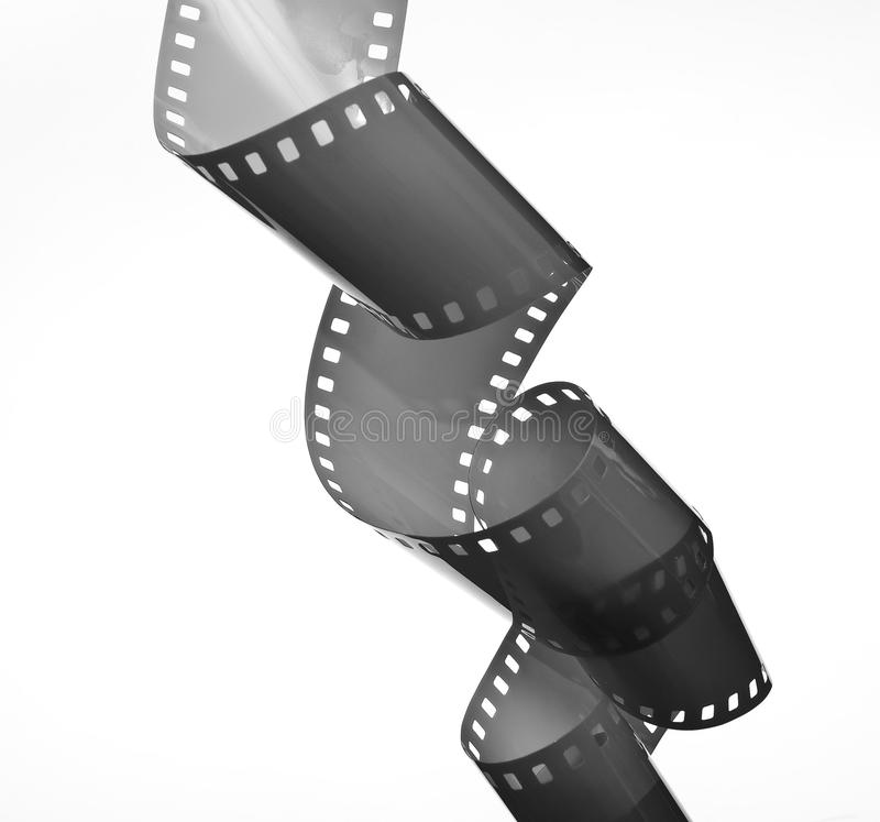 35 mm film. On white royalty free stock image