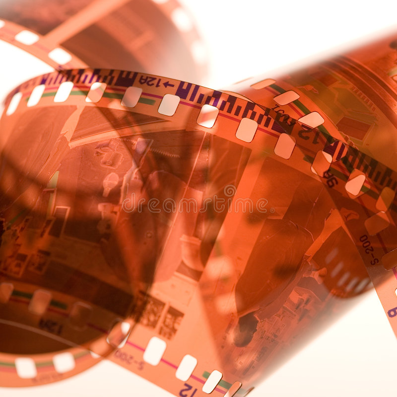 35 mm film. Background. Close up . Small DOF royalty free stock photos