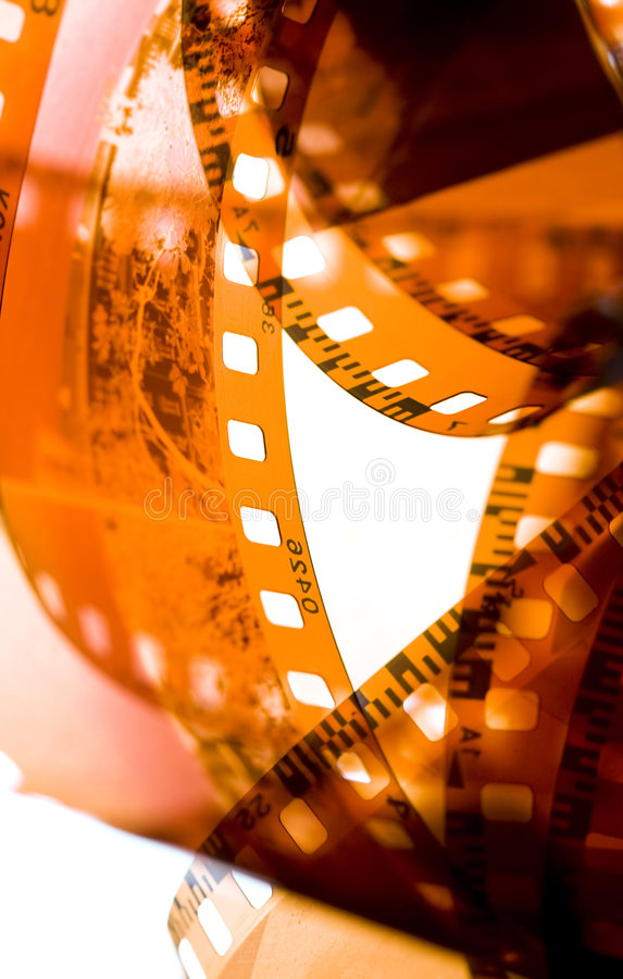 35 mm film strip. Abstract 35 mm film strip royalty free stock photos