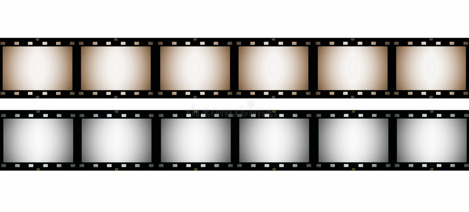 Download 35 Mm Film Strip, Isolated On White Stock Image - Image: 26622737