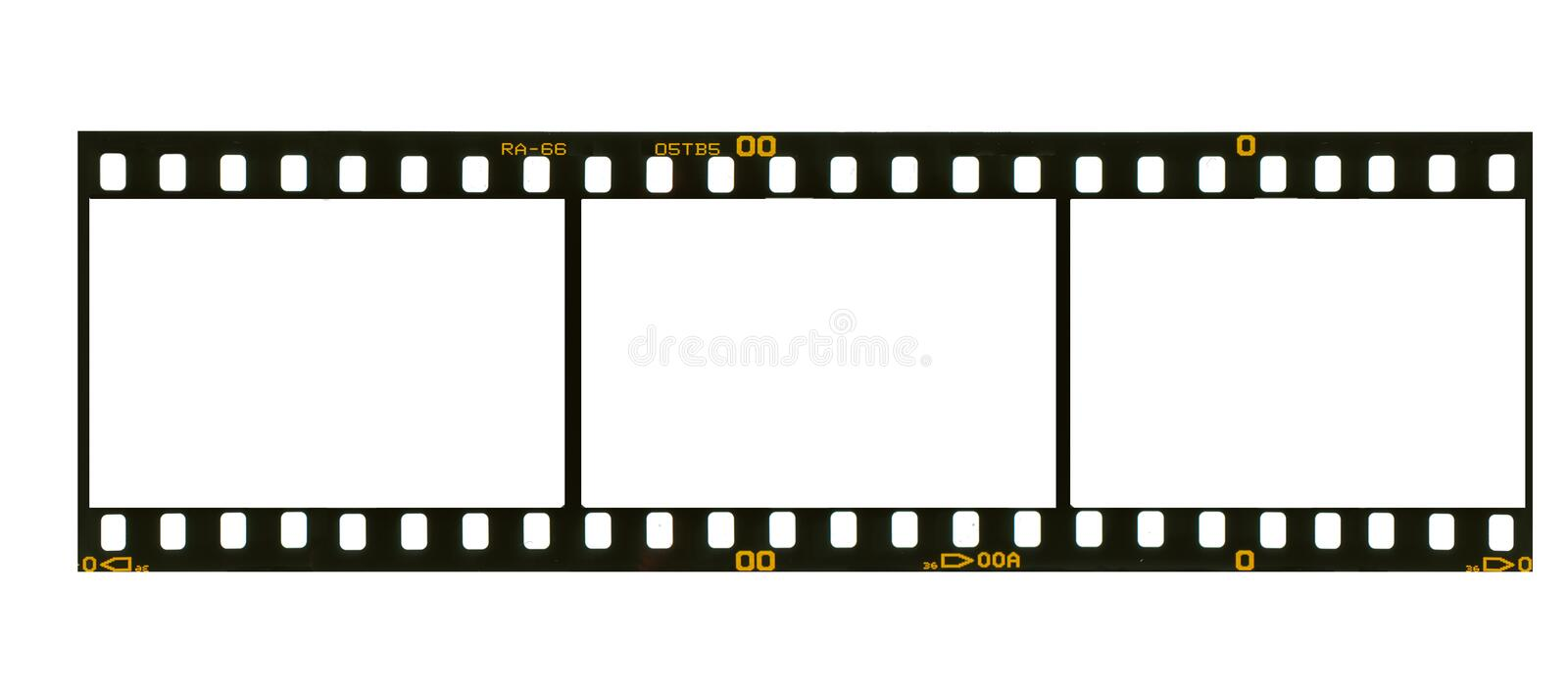 Download 35 Mm Filmstrip, 3 Picture Frames, Stock Illustration - Image: 12755177