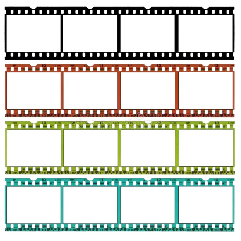 35 mm różnych kolorów, ekranu. royalty ilustracja