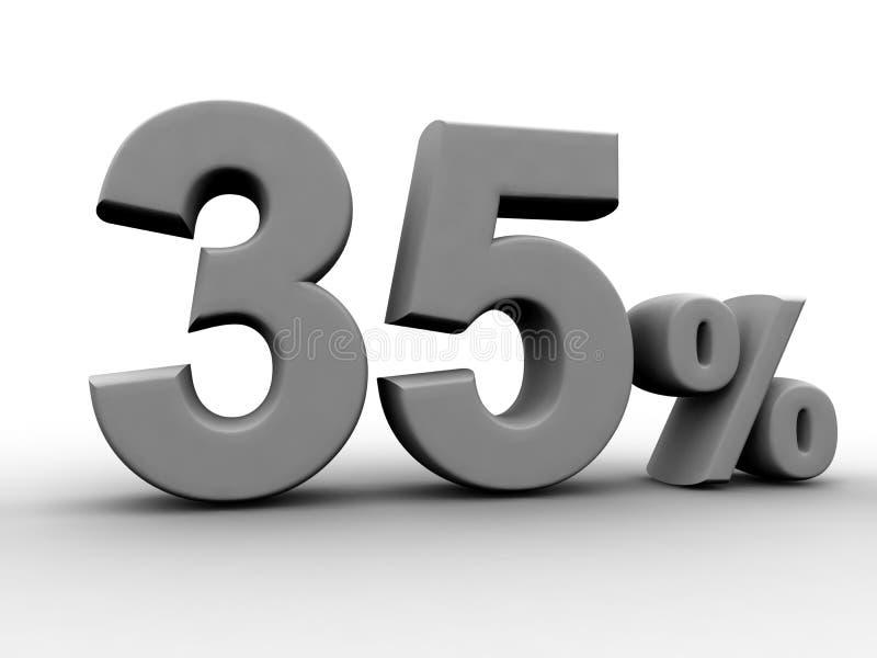 35 per cento illustrazione di stock