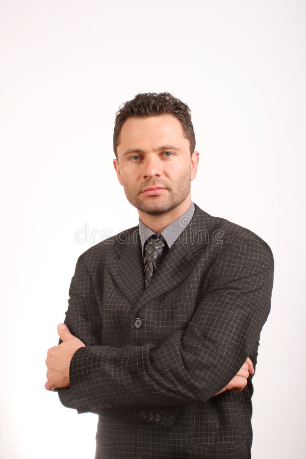 35 years old business man portrait - close up stock photography