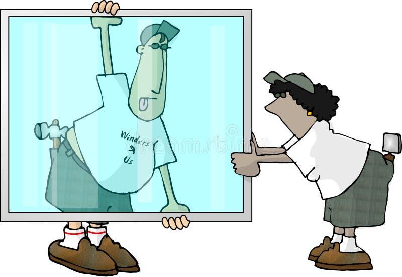 装玻璃工 库存例证
