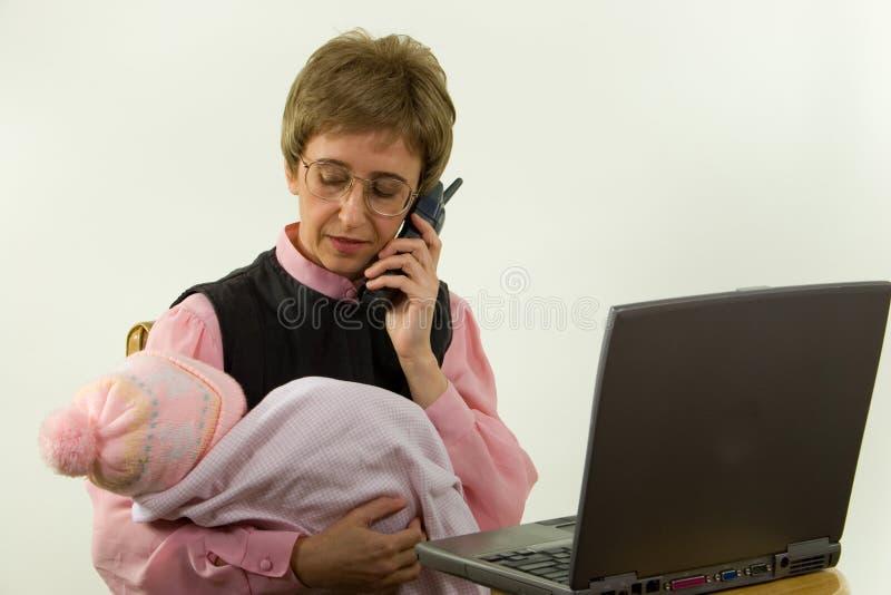 357个母亲工作 免版税库存图片
