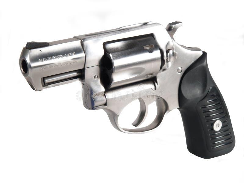 .357 Magnum Revolver. High key photo of .357 magnum revolver royalty free stock photography