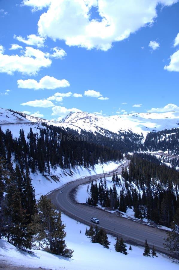 359多雪的山 库存照片