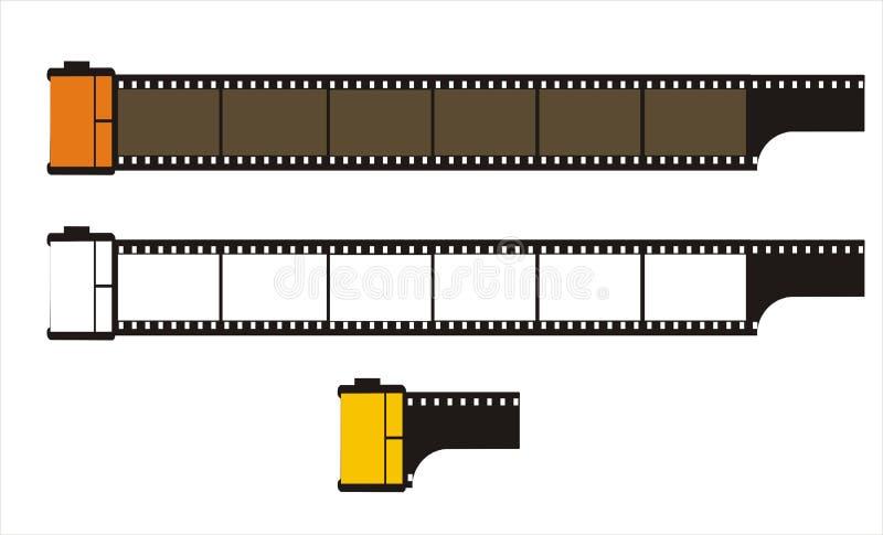 35mm影片摄影卷 皇族释放例证