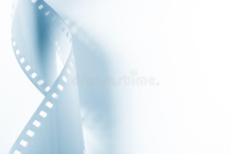 35mm接近的卷曲的影片图象  免版税库存照片