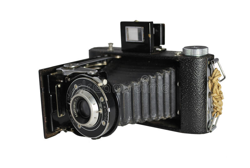 35mm照相机裁减路线葡萄酒 库存照片