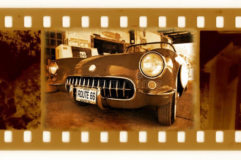 35mm 66位汽车框架老老人照片途径 库存照片