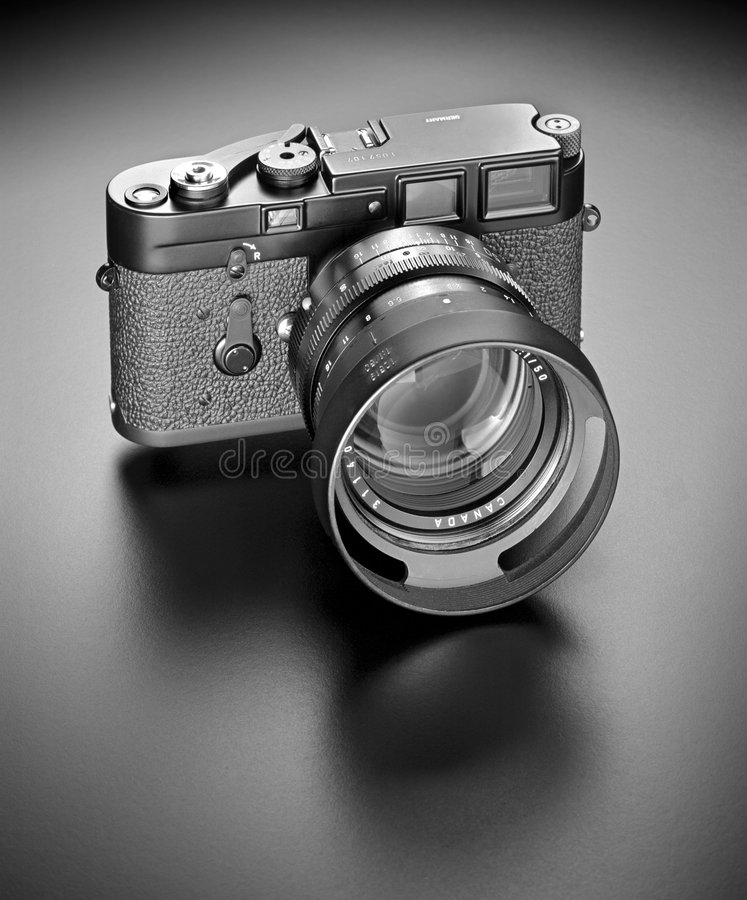 35mm camera. Used by top photojournalists of the 1950ies and 1960ies royalty free stock photos