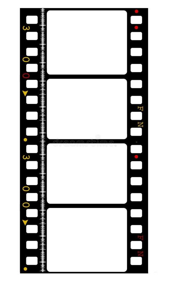 35mm de film van de kleurenfilm vector illustratie