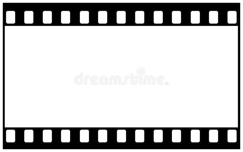 35mm film blank for wide image royalty free illustration