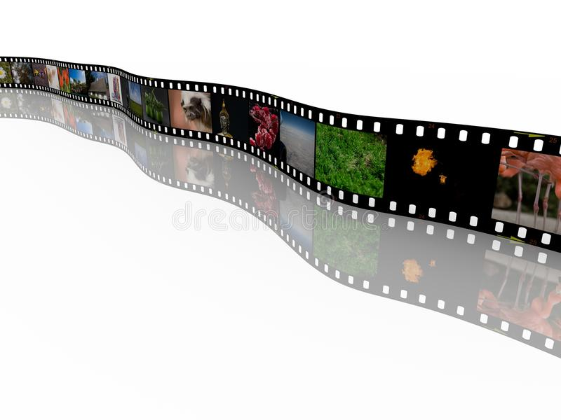 35mm film with images stock illustration