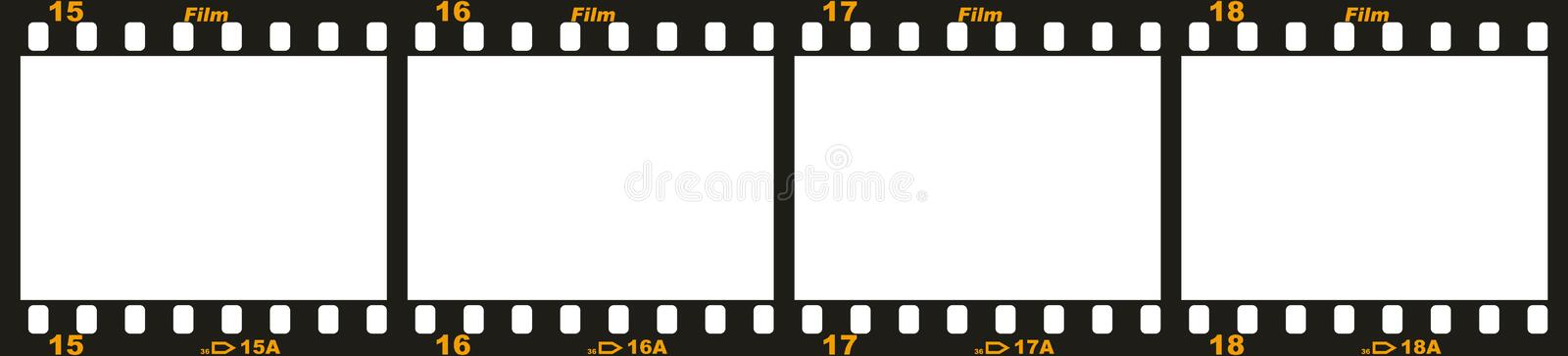 35mm film strip vector illustration