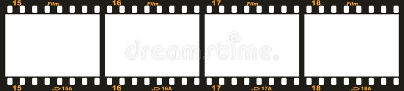 35mm filmremsa vektor illustrationer