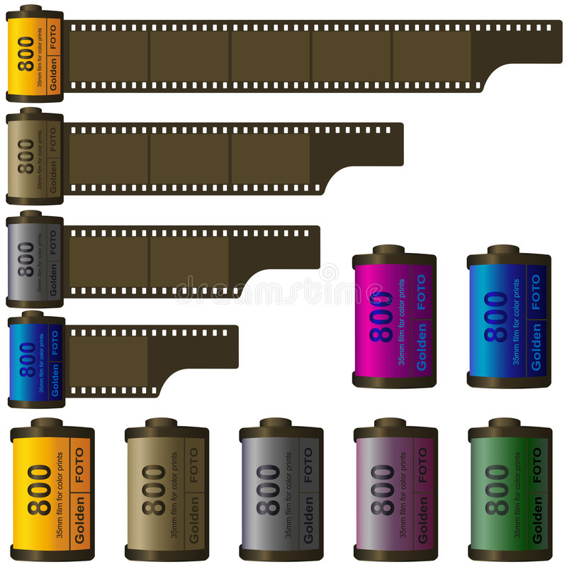 35mm Filmrolle vektor abbildung