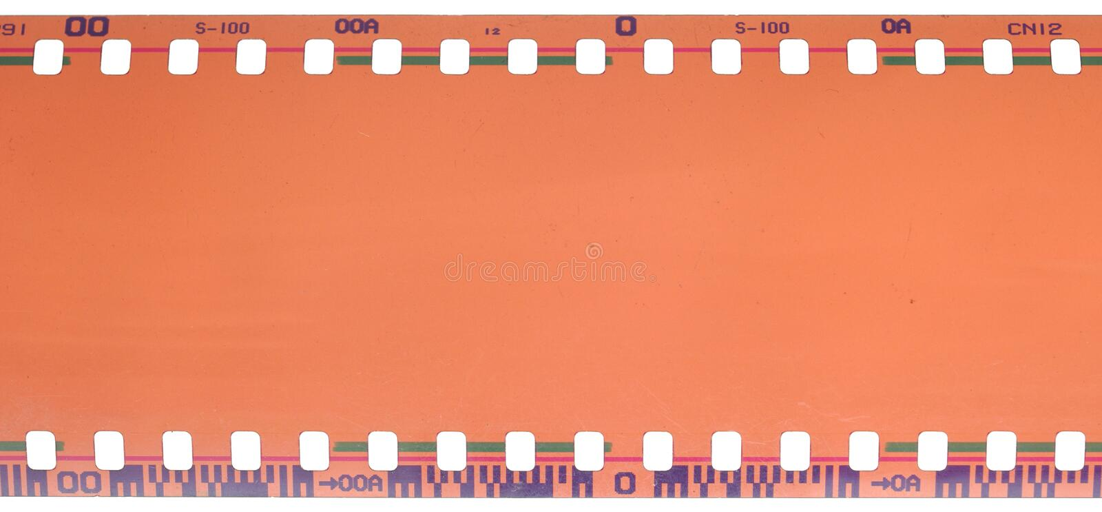 35mm filmstrip. Isolated on white background stock image