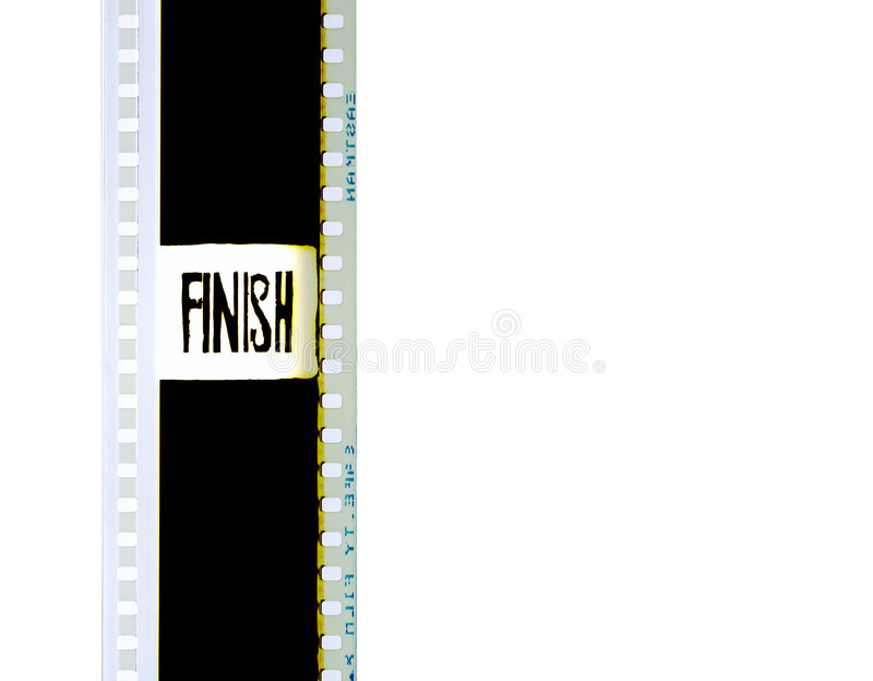 35mm Filmstrip 2. A 35mm countdown filmstrip picture finish stock photo