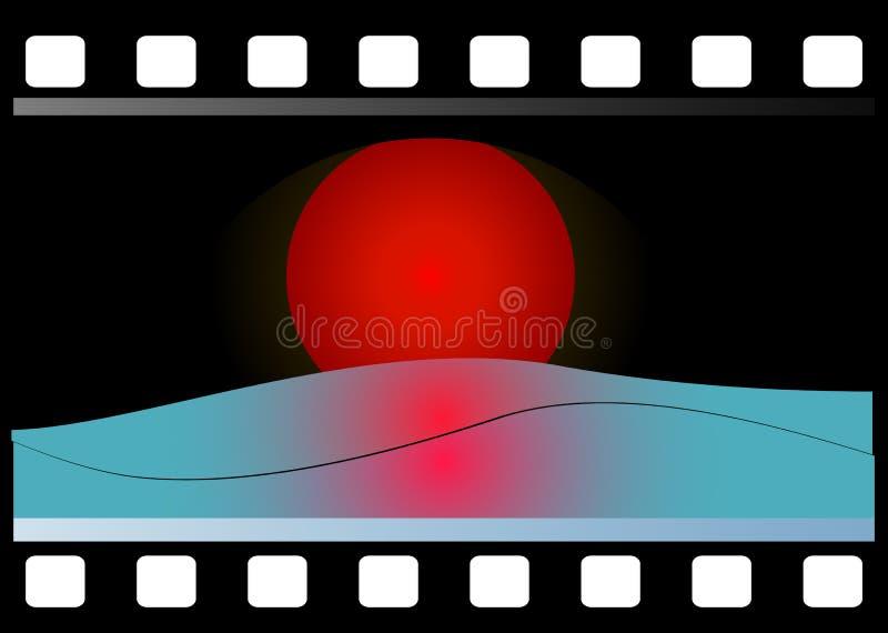 35mm filmstrip royalty free illustration