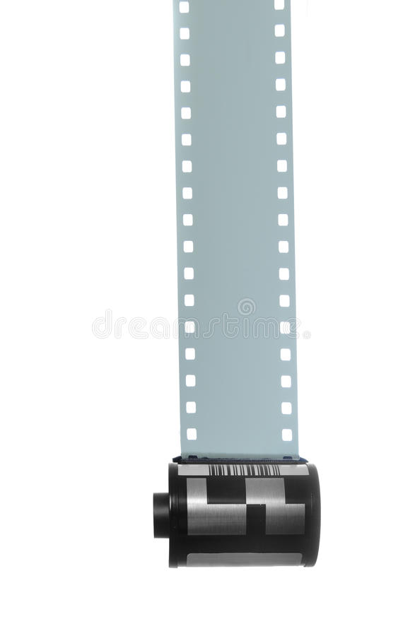 35mm Filmstrip for Photography. Isolated on white background royalty free stock photos