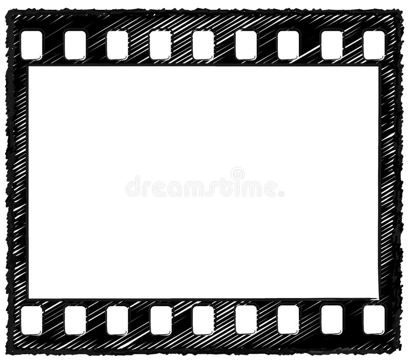 35mm frame sketch royalty free stock photo
