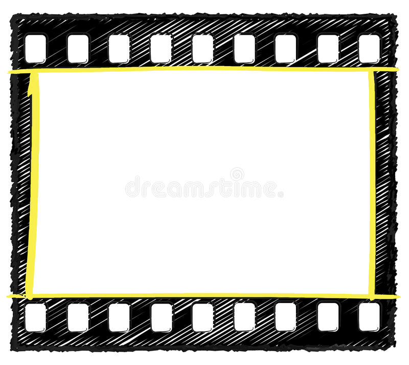 35mm frame sketch selection markup royalty free stock photos