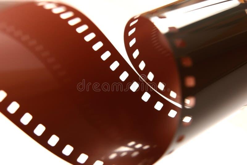 35mm gekruld filmbroodje. stock afbeeldingen
