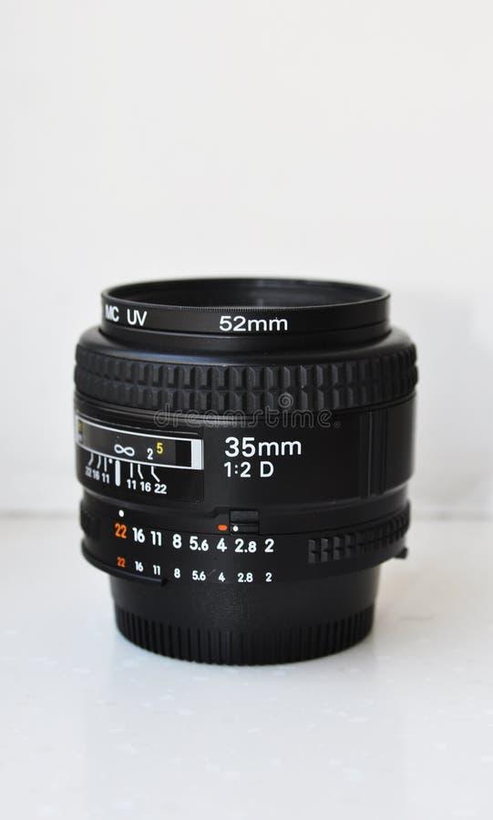 35mm kameralins royaltyfri foto