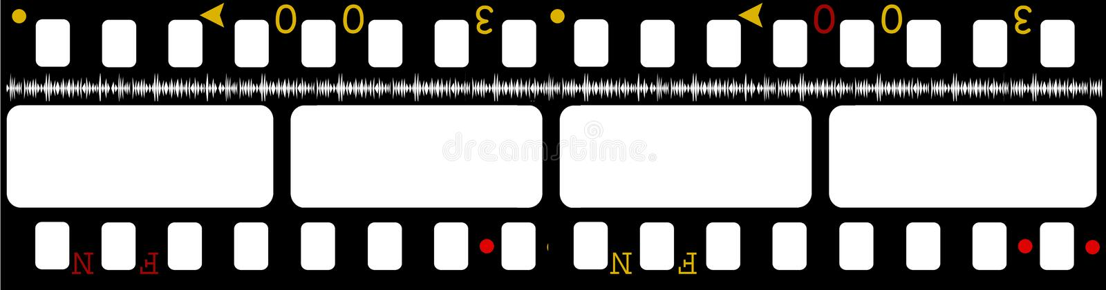 Download 35mm movie Film stock illustration. Image of abstract - 4587174