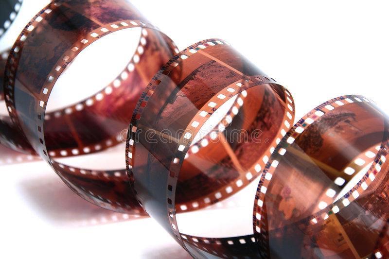 35mm roll of film isolated royalty free stock photos