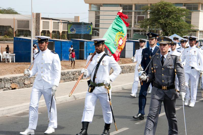 The 35th anniversary of Independence of Cape Verde stock images