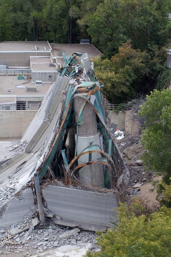 35W Bridge Deck Collapse1. Photograph of 35W bridge collapsed in Minneapolis, MN stock photos