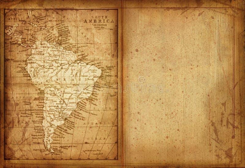 36 kaart van Zuid-Amerika stock illustratie