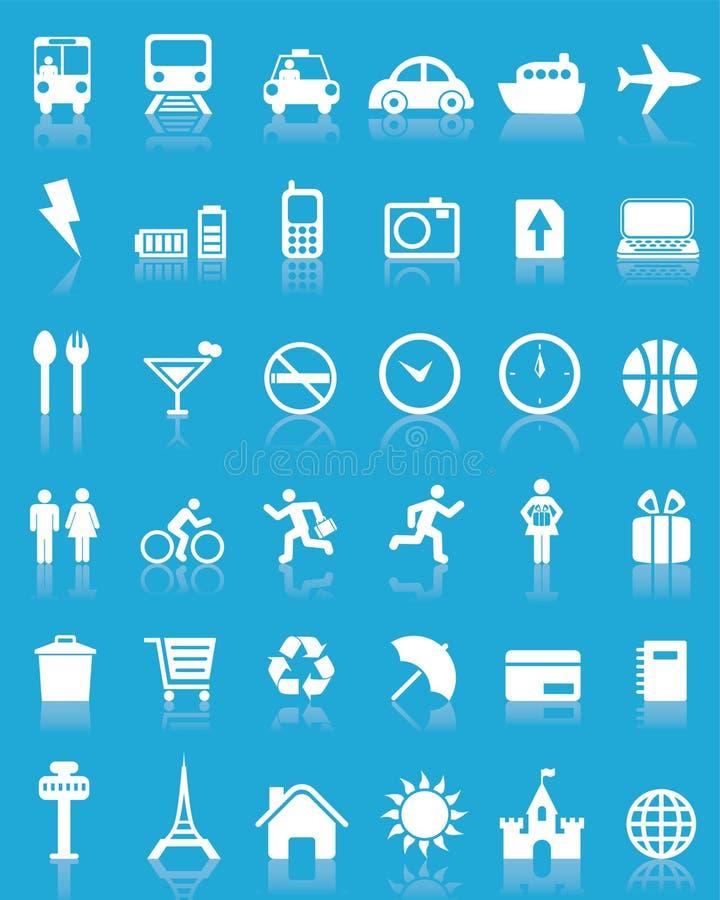 36 ustalić ikon podróż wektora ilustracji