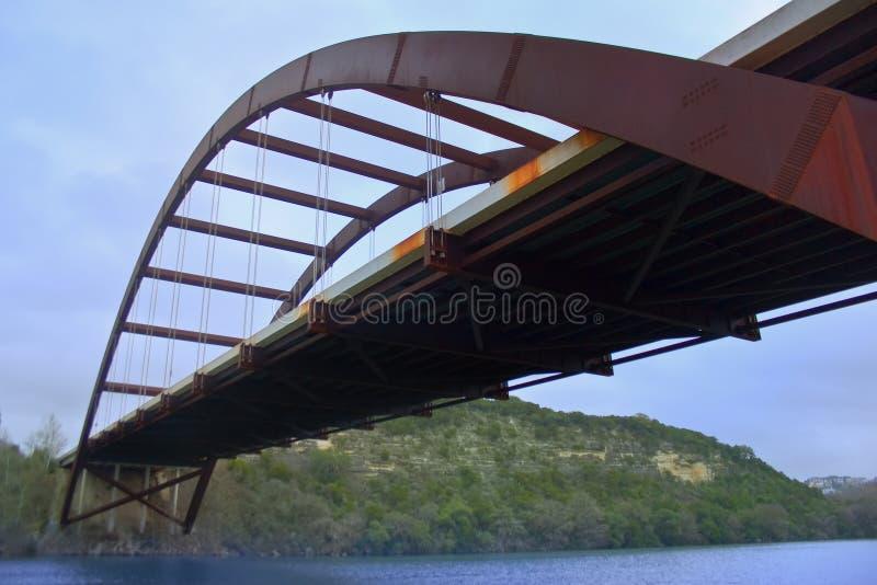 360奥斯汀桥梁pennybacker 免版税库存图片