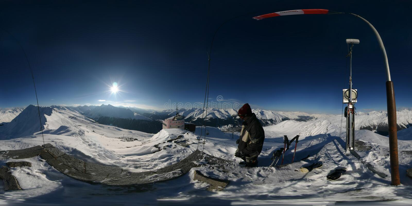 360 Degree Spherical Panorama From The Top Of Jakobshorn Mountain In Davos Switzerland Use Panocube Or Quicktime Vr To View As An Immersive Sphere