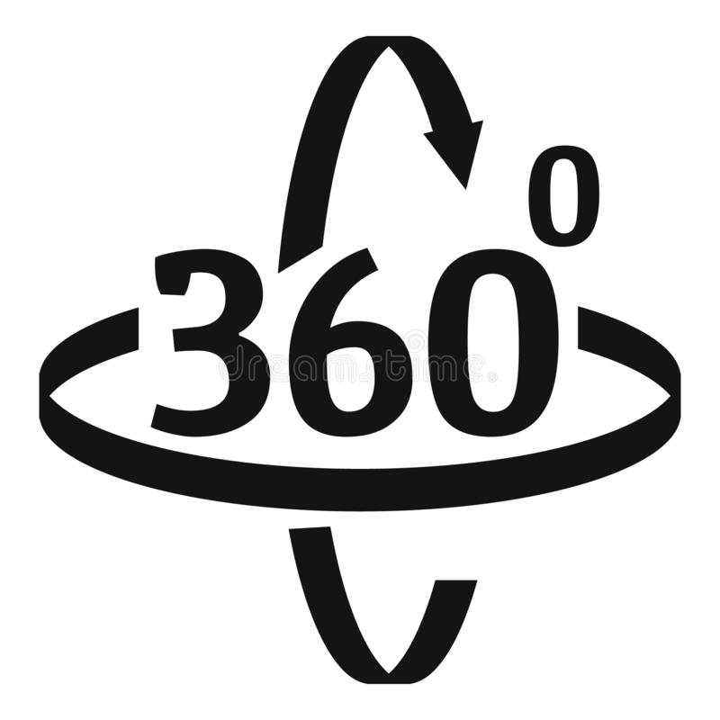 Free 360 Degrees Rotation Icon, Simple Style Stock Image - 163278051