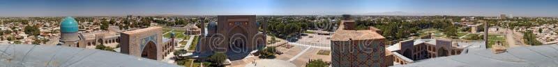 360 panoramy samarqand stopni zdjęcia royalty free